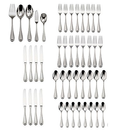 Image of Oneida Countess Stainless Steel 45-Piece Casual Flatware Set