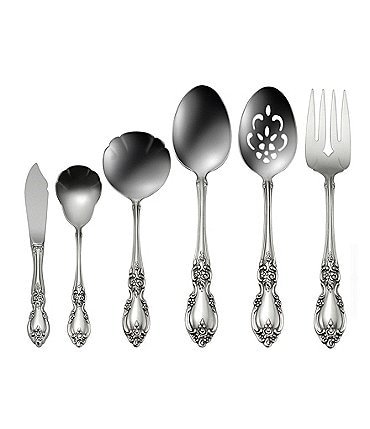 Image of Oneida Louisiana Floral Fiddleback 6-piece Stainless Steel Flatware