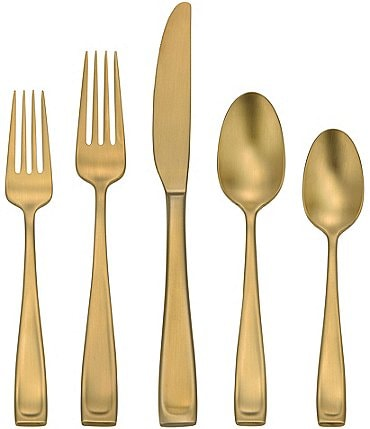 Image of Oneida Moda Lux 45-Piece Stainless Steel Flatware Set