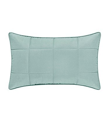 Image of Oscar & Oliver Clinton Quilted Twill Boudoir Pillow