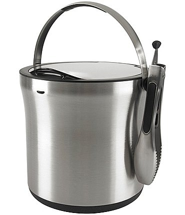 Image of OXO Stainless Steel Ice Bucket & Tongs Set