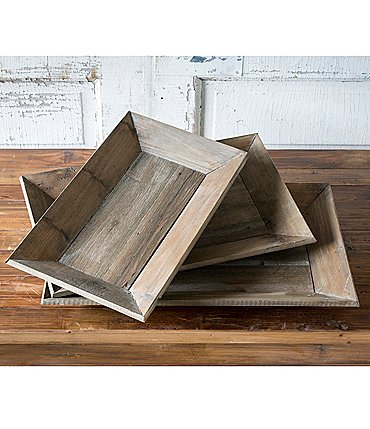 Image of Park Hill 3-Piece Reclaimed Wood Tray Set