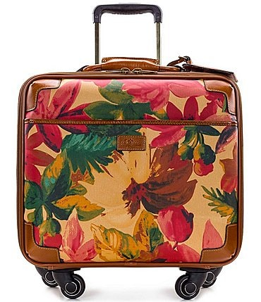 Image of Patricia Nash Velino Floral Multi Trolley Wheeled Carry-on Spinner