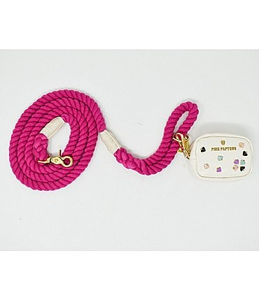 Image of Pink Papyrus Christine Cotton Rope Leash and Katie Rose BFF Mini Bag