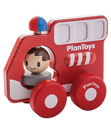 Image of Plan Toys Fire Truck Toy