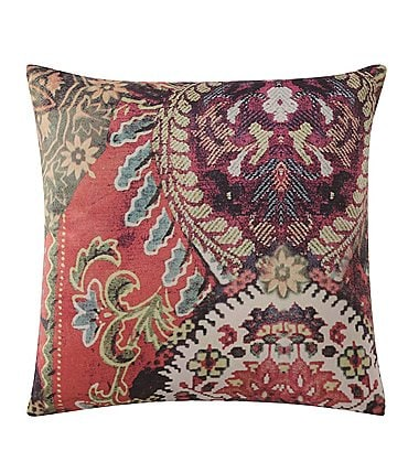 Image of Poetic Wanderlust by Tracy Porter Fiona Velvet & Faux-Silk Square Feather Pillow