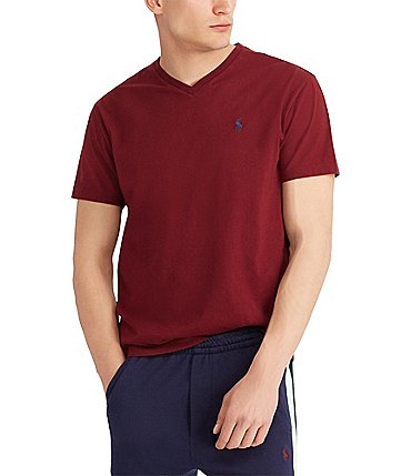 Image of Polo Ralph Lauren Classic-Fit Short-Sleeved Cotton Jersey V-Neck Tee
