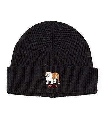 Image of Polo Ralph Lauren Men's Bulldog Embroidered Cuff Beanie Hat