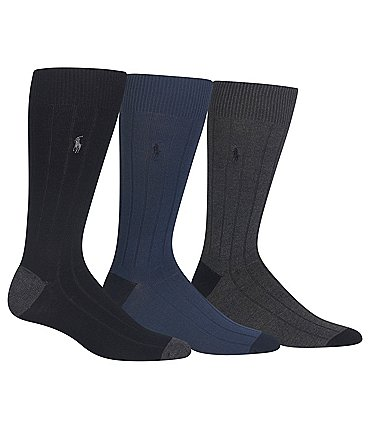 Image of Polo Ralph Lauren Soft Touch Dress Socks 3-Pack