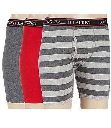Image of Polo Ralph Lauren Stretch Classic-Fit 3-Pack Boxer Briefs