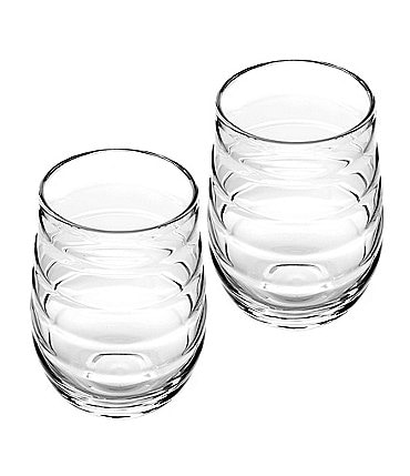 Image of Portmeirion by Sophie Conran Ribbed Highball Glass Pair