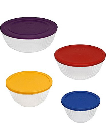 Image of Pyrex 8-Piece Sculpted Mixing Bowl Set