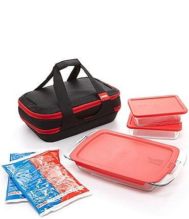 Image of Pyrex Portable 9-Piece Double-Decker Set