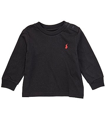 Image of Ralph Lauren Baby 3-24 Months Long-Sleeve Basic Tee