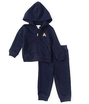 Image of Ralph Lauren Baby Boys 3-24 Months Polo Bear Terry Hoodie & Pant Set