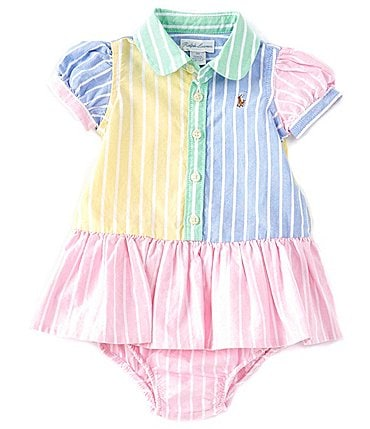 Image of Ralph Lauren Baby Girls 3-24 Months Fun Dropwaist Shirtdress