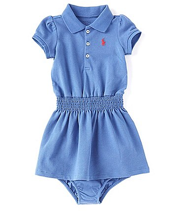 Image of Ralph Lauren Baby Girls 3-24 Months Polo Mesh Dropwaist Dress
