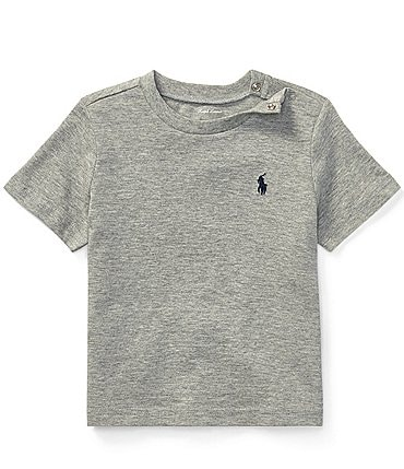 Image of Ralph Lauren Childrenswear Baby Boys 3-24 Months Short-Sleeve Basic Jersey Tee