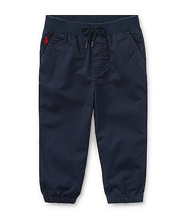 Image of Ralph Lauren Childrenswear Baby Boys 3-24 Months Flat-Front Elastic Hem Pull-On Pants