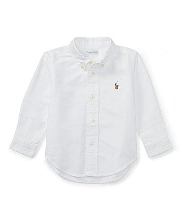 Image of Ralph Lauren Childrenswear Baby Boys 3-24 Months Long-Sleeve Oxford Shirt