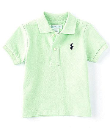 Image of Ralph Lauren Childrenswear Baby Boys 3-24 Months Short Sleeve Essential Mesh Polo Shirt