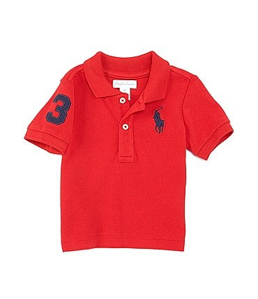 Image of Ralph Lauren Childrenswear Baby Boys 3-24 Months Short-Sleeve Big Pony Polo Shirt