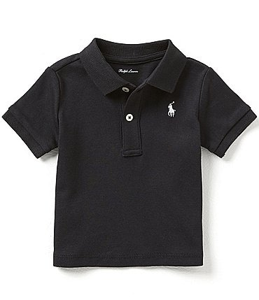 Image of Ralph Lauren Childrenswear Baby Boys 3-24 Months Short-Sleeve Interlock Polo Shirt