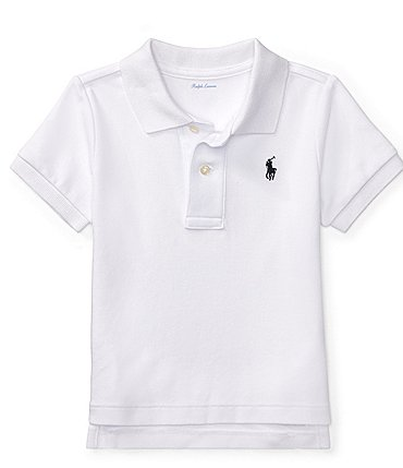 Image of Ralph Lauren Childrenswear Baby Boys 3-24 Months Interlock Polo Shirt
