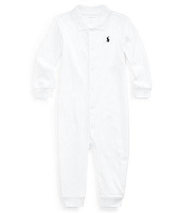 Image of Ralph Lauren Childrenswear Baby Boys Newborn-12 Months Classic Coverall