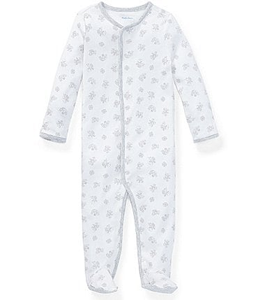 Image of Ralph Lauren Childrenswear Baby Newborn-9 Months Long-Sleeve Printed Footed Coverall