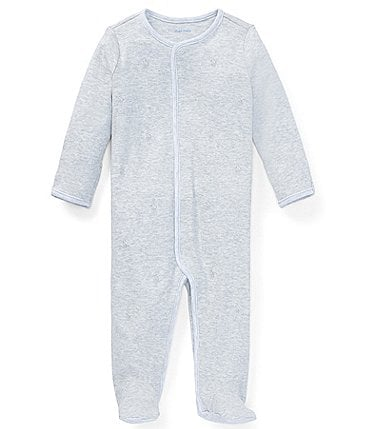 Image of Ralph Lauren Childrenswear Baby Newborn-9 Months Pony Footed Coverall