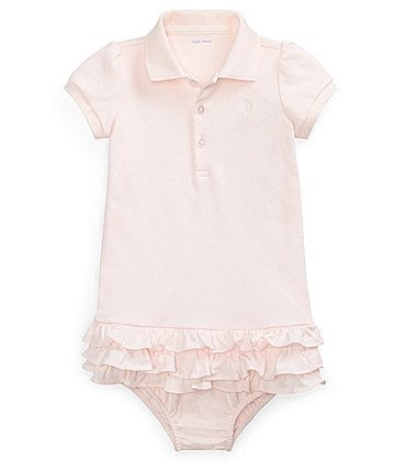 Image of Ralph Lauren Childrenswear Baby Girls 3-24 Months Polo Cupcake Dress