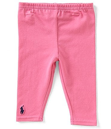 Image of Ralph Lauren Childrenswear Baby Girls 3-24 Months Solid Leggings