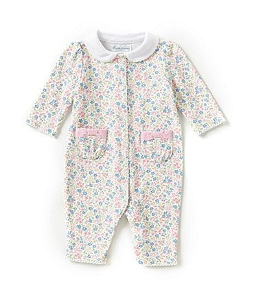 Image of Ralph Lauren Childrenswear Baby Girls Newborn-12 Months Floral Coveralls