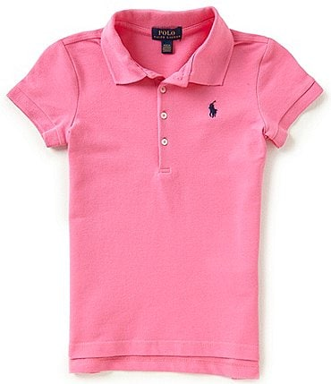 Image of Ralph Lauren Childrenswear Little Girls 2T-6X Mesh Polo Shirt