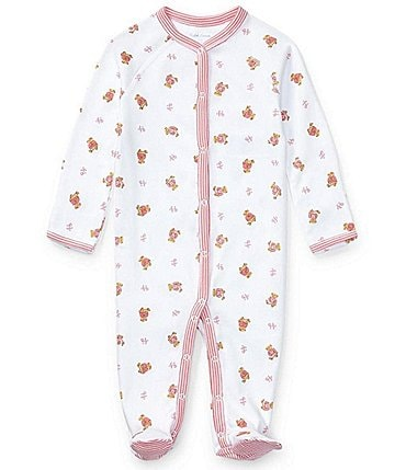 Image of Ralph Lauren Baby Girls Newborn-9 Months Polo Bear Footed Coverall