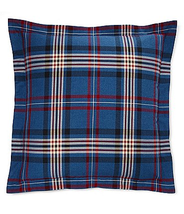 Image of Ralph Lauren Saranac Peak Collection Bentwood Plaid Cotton Euro Sham