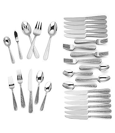 Image of Reed & Barton Tennyson 65-Piece Stainless Steel Flatware