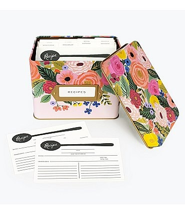 Image of Rifle Paper Co. Tin Recipe Box