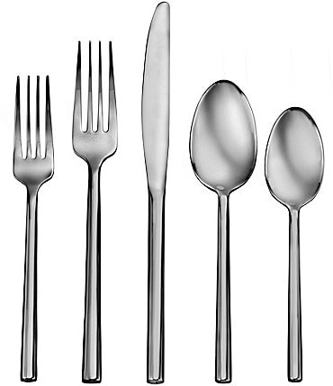 Image of Robinson Living by Robinson Satin Henway 50-Piece Stainless Steel Flatware Set