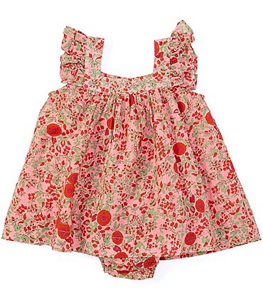 Image of Roller Rabbit Baby Girls 12-24 Months Vickey Floral A-Line Matching Dress