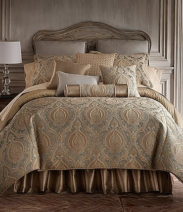 Image of Rose Tree Norwich Damask & Striped Comforter Set