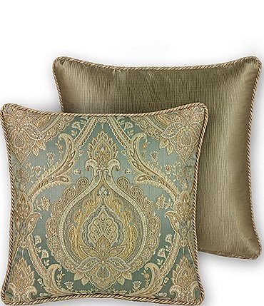 Image of Rose Tree Norwich Damask Square Pillow