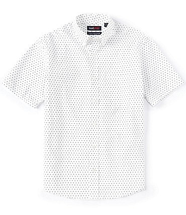 Image of Roundtree & Yorke TravelSmart Short-Sleeve Airplane Print Sportshirt