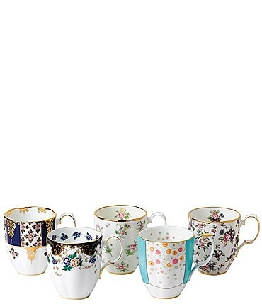 Image of Royal Albert 100 Years 1900-1940 5-Piece Mug Set