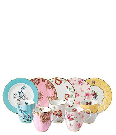 Image of Royal Albert 100 Years 1950-1990 10-Piece Mug and Plate Set