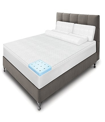 Image of Sensorpedic Majestic iCOOL Memory Foam Mattress Topper