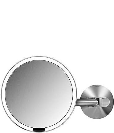 "Image of simplehuman 8"" 5x Magnification Wall-Mount Sensor Lighted Mirror"