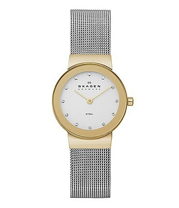 Image of Skagen Ladies' Classic Two-Tone Stainless Steel Mesh Band Analog Watch