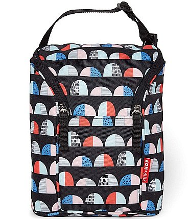 Image of Skip Hop Grab and Go Double Bottle Geometric Print Bag